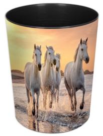 "Prullenmand ""paarden op strand"" (6660)"