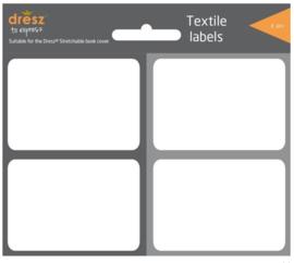 Textiel labels rekbaar kaft zwart/grijs (4116)
