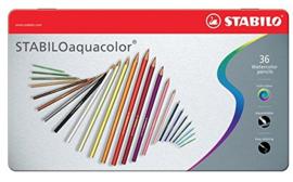 Stabilo aquacolor aquarel kleurpotloden 36st in blik