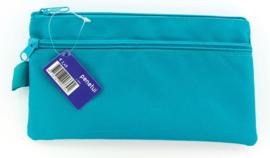 Plat etui donker turquoise (3391)