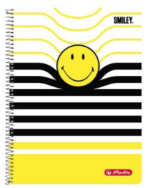 Smiley world (streep) collegeblok geruit A4 black 4r