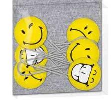 Smileyworld jumbo paperclips 6st
