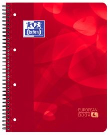 Oxford Projectboek blauw A4 5mm geruit 4r 120 vel (1122)