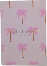 Fab Notitieboek A5 gelinieerd roze palmboom (0700)