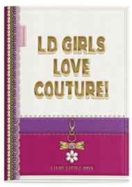 Little Diva A4 schrift gelinieerd paars