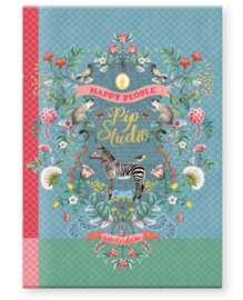 Pip Studio A4 schrift lichtblauw gelinieerd (0190)