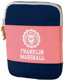 Ipad cover Franklin & Marshall  blauw / roze (0435)