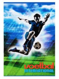 Voetbal international schrift A4 gelinieerd