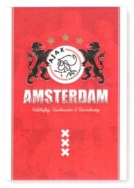 Ajax Amsterdam A4 schrift gelinieerd (7324)