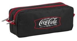 Dubbel zwart etui Coca cola (7347)