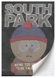 South Park A4 schrift gelinieerd zwart