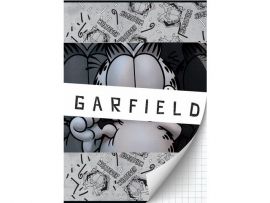 Garfield boy's A4 schrift geruit (3161)