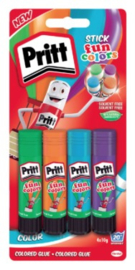 Pritt lijmstift 4x funcolors 11 gram (4138)
