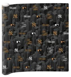 Kaftpapier NYY zwart/goud (4169)