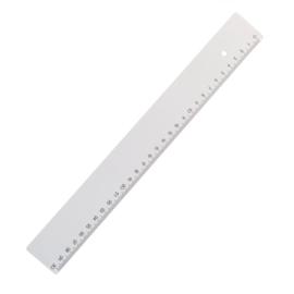 Witte 30cm liniaal extra sterk