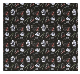 Star Wars kaftpapier zwart stormtrooper/darth vader (2453)