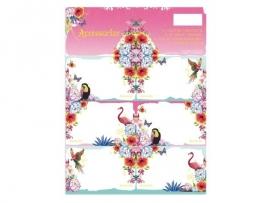 Accessorize Sweet etiketten flamingo papegaai (2592)
