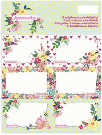 Accessorize Sweet etiketten flowers (4727)