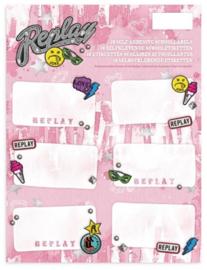 Replay Girls etiketten roze (6622)