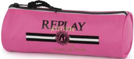 Replay Girls etui zuurstokroze rond (5562)
