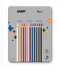 Lamy 4plus kleurpotloden 12st in blik (0053)