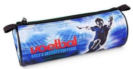 Voetbal international etui blauw (3514)
