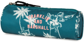 Franklin & Marshall etui rond blauw/groen (9487)