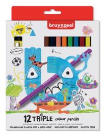 Bruynzeel triple kleurpotloden 12st (1038)