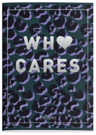 Supertrash A4 schrift geruit who cares