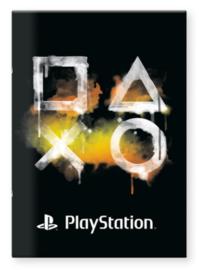 Playstation A4 schrift geruit (7908)