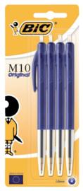 BIC M10 balpennen blauw 4x (7578)