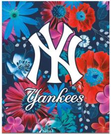MLB Flowers ringband 23r blauw (9586-J5)