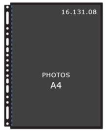Henzo 16.131.08 A4 fototassen zwart