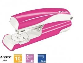 Leitz WOW nietmachine roze