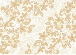 Bloemen kaftpapier goud wit (4834)