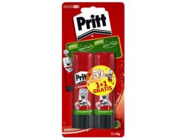 Pritt lijmstift 43 gram 1+1 gratis (8487)