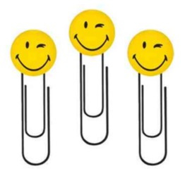 Smileyworld paperclips 5st (0122)
