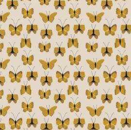 Kaftpapier dik Butterfly geel (7640)