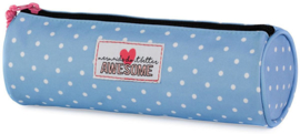 "Awesome Mermaid etui ""dots"" rond (7889)"