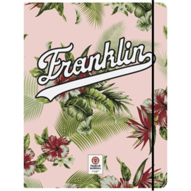 Franklin & Marshall girls A4 elastomap roze (3376)