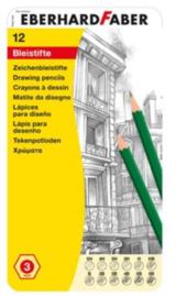 Eberhard Faber grijze potloden set in blik (9134)