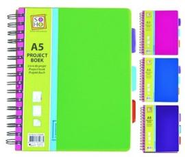 Projectboek / collegeblok A5 200 vel