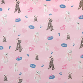 "Studio Pets kaftpapier ""roze"" (9683)"