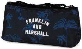 Franklin & Marshall boy's dubbel etui blauw (9272)