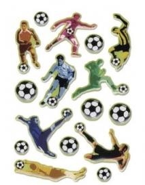 "Voetbal  reliëf stickers gekleurd ""voetballer"" (2572)"
