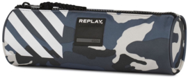 Replay boy's etui camo grey rond (0417)