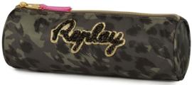 Replay girls etui luipaard rond (0639)