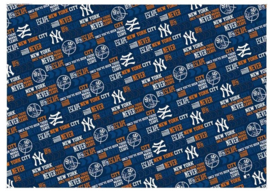 New York Yankees kaftpapier donkerblauw (6782)