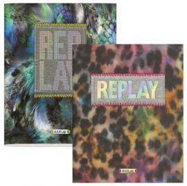 Replay girls A5 schriften luipaard (6255)