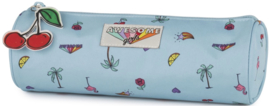 Awesome Girls etui rond lichtblauw (2745)